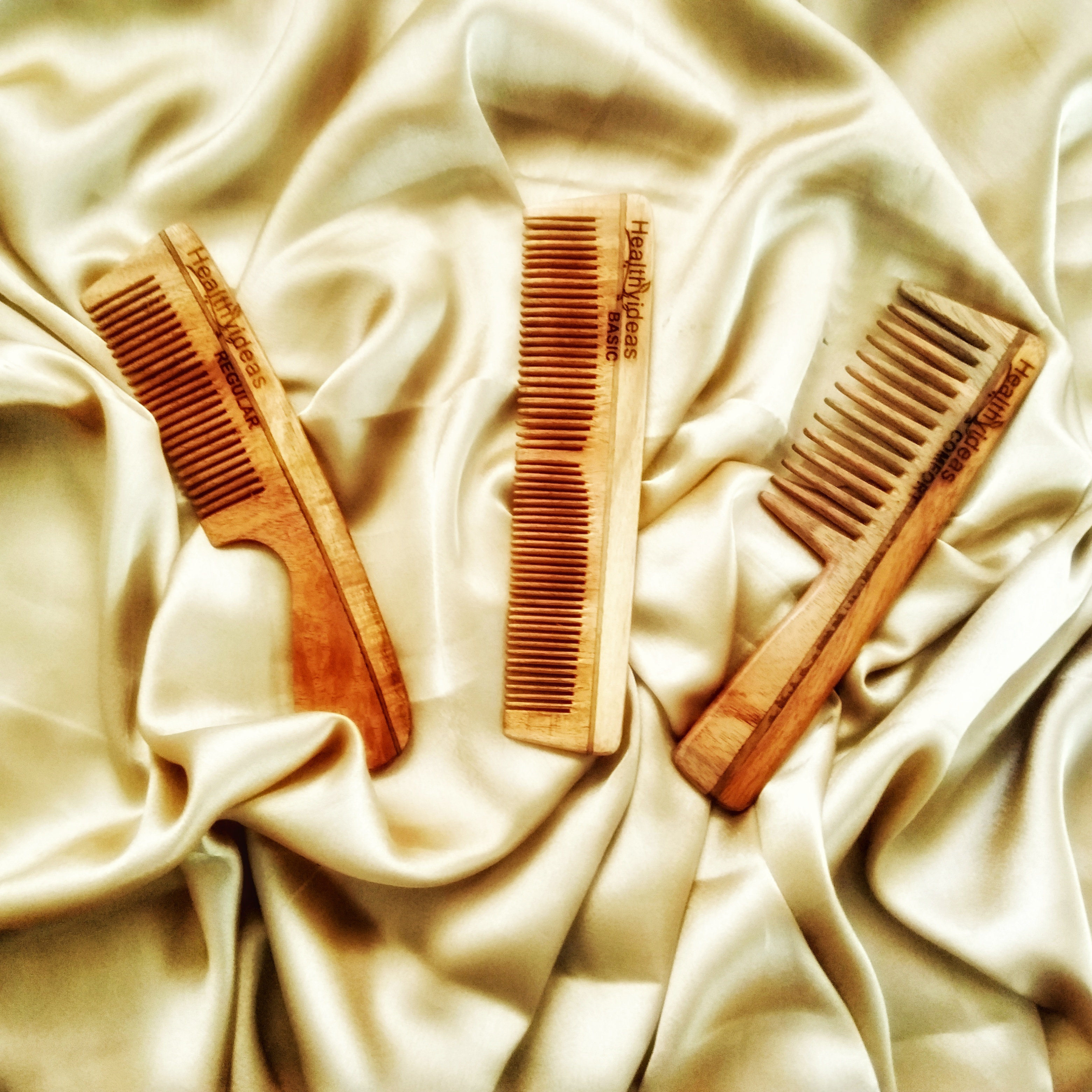 Healthy Ideas Neem Wood Combs Photo One